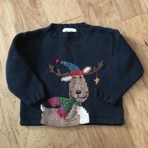 Other - Holiday moose sweater size 3T EUC